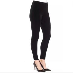 Lysse Velour Stretch Black Pants Size Large